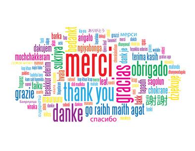 """Nuage de Tags """"MERCI"""" (thank you message carte remerciements)"""